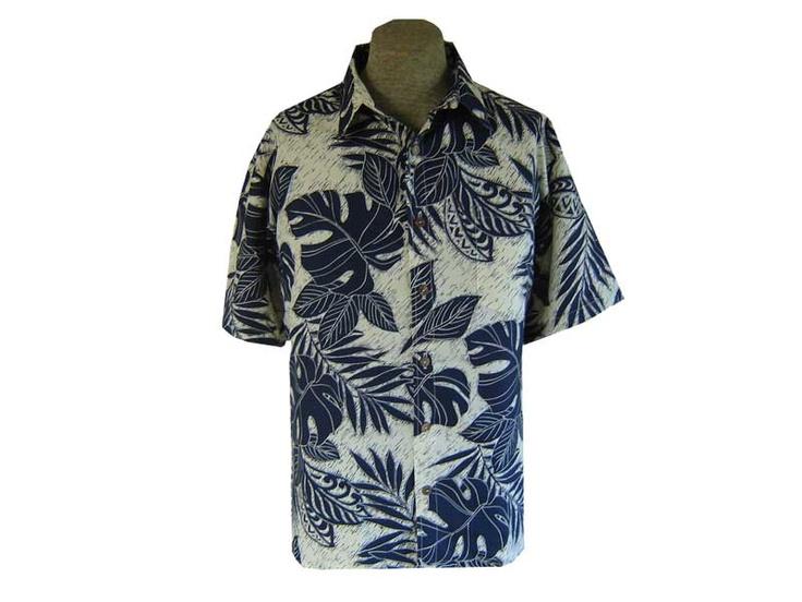 Indigo Hawaiian Shirts for Men