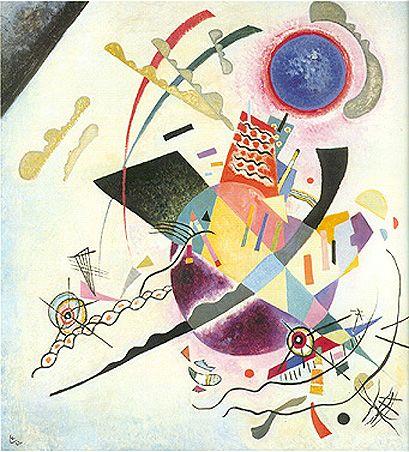 Wassily Kandinsky - 'Blue Circle' - (1922) The Guggenheim Museum.