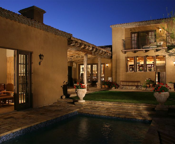 213 best european style homes images on pinterest for Adobe home builders california