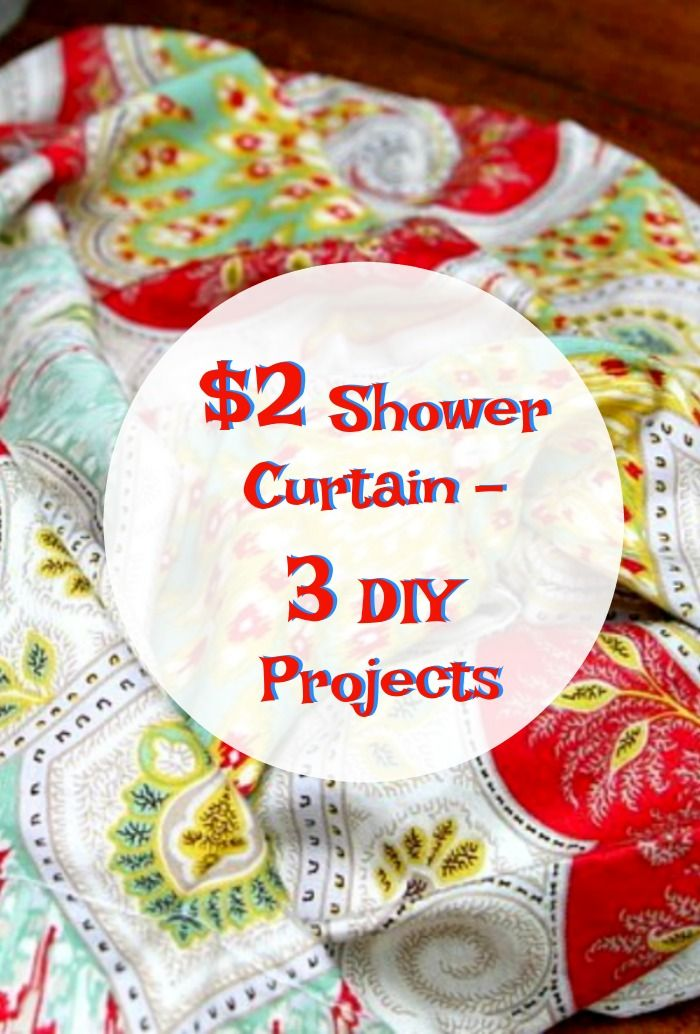 Diy Kitchen Curtains Made From A Pretty Fabric Shower Curtain