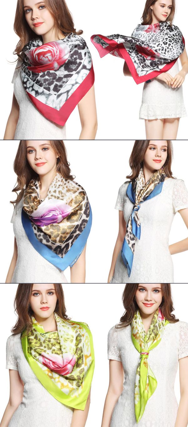 Wild beauty 15mm silk Twill Exquisite printed hand curling scarf!A variety of ways to wear, suitable for a variety of occasions!More silk style at www.vividmoo.com