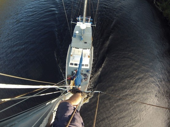 Sailing down the Gordon River on the Stormbreaker by Leon Senchenko