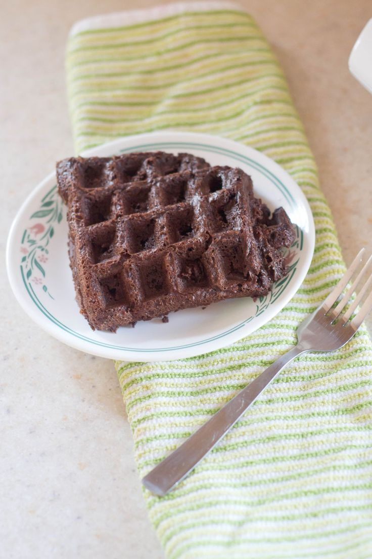 These brownie mix waffles are a genius way to get your chocolate fix in the simplest and quickest way!