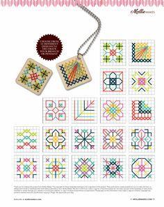 Mollie Makes Free cross stitch patterns