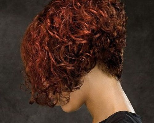 hairstyle bob back view curly - Google Search
