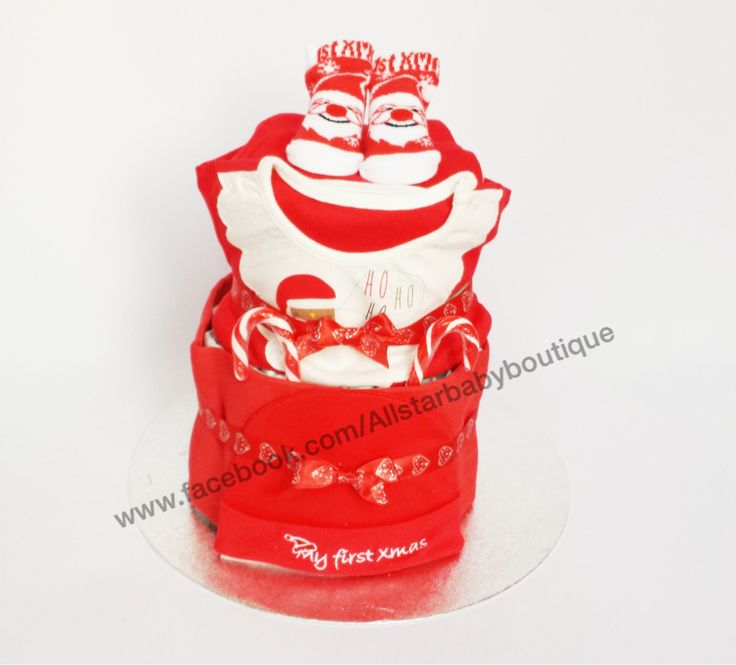 2 tier First Christmas nappy cake £30