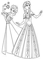 Frozen coloring pages for kids