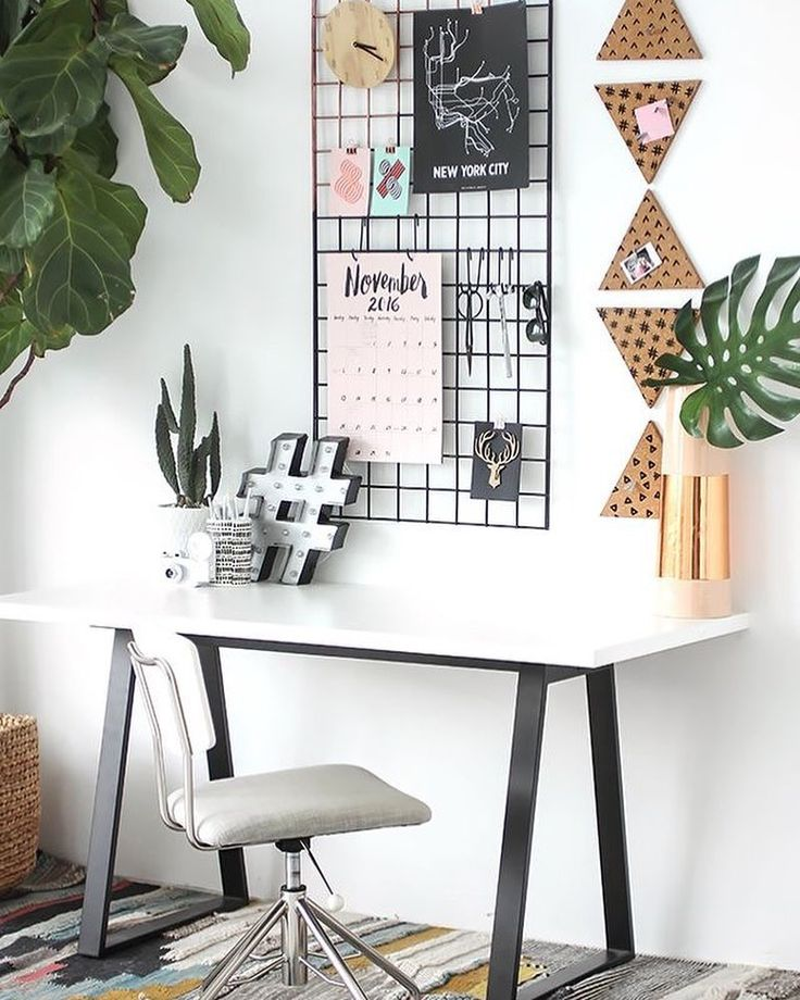 Trendy workspace Via dcbarroso #homesweethome #decor #design #instahouse #insta…