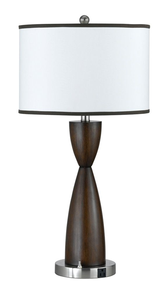 153 best contemporary modern table lamps images on pinterest 100w metal night stand lamp with on off rocker switch and 1 power outlet shown in aloadofball Images
