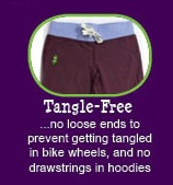 12 reasons why Peekaboo Beans is different from other kids clothing brands.  REASON #3 - No loose ends!