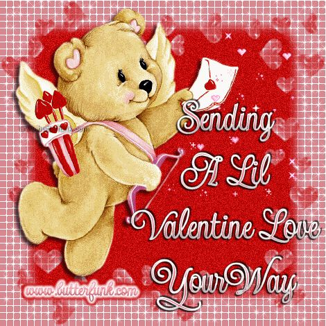 sending a little valentine love your way bear gif vday quotes valentines day quotes happy valentines - Valentines Day Greetings Quotes