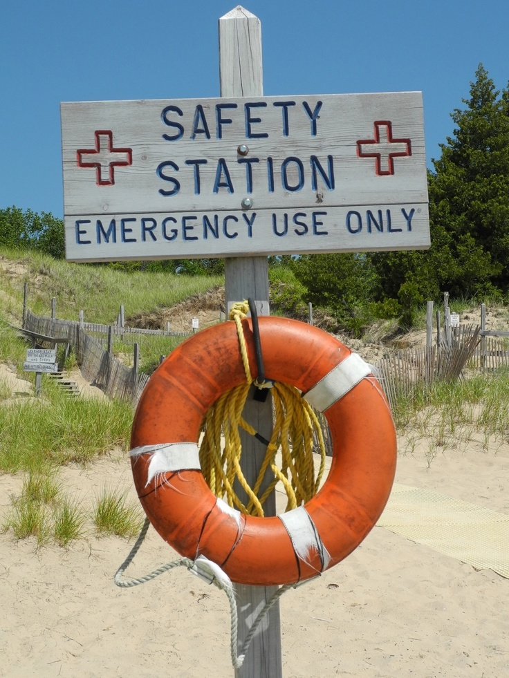 Safety Station for lonely beach and emergency use only in Wisconsin.