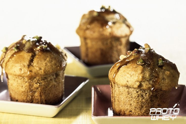 Pear and Pistachio protein muffins