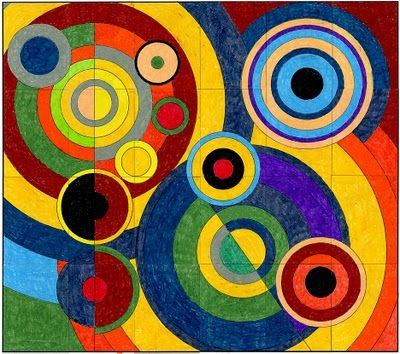 Delaunay- mural- whole group- for 24 students