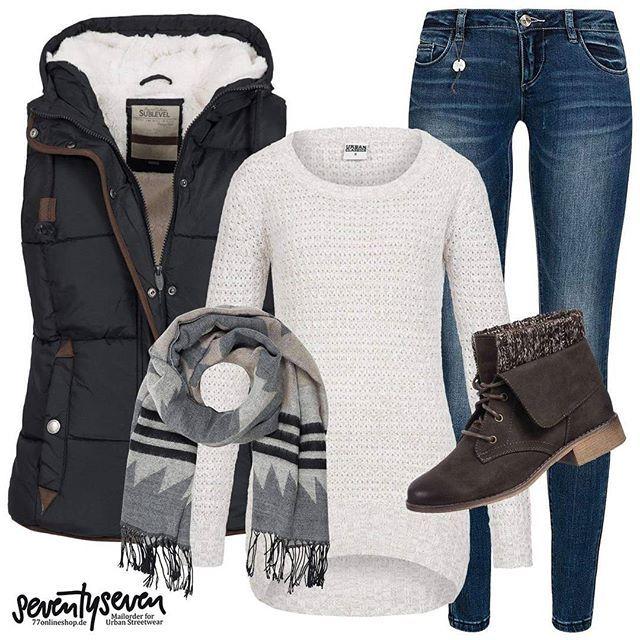 Westen für die Besten! Outfit hier online bestellen www.77onlineshop.de und ins Suchfeld OUTFIT3449 eingeben.  #77onlineshop #outfit #picoftheday #instagood #only #onlyjeans #musthave #winter2016 #winterweste