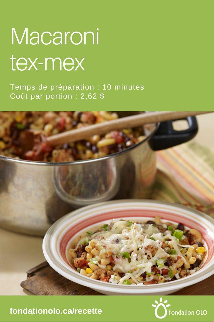Recette de macaroni tex-mex, un macaroni à saveur mexicaine. Succès garanti chez les tout-petits! Seulement 2,62$ par portion. --- Recette facile, Recette économique, Recette rapide, Recette nutritive --- #Pâtes