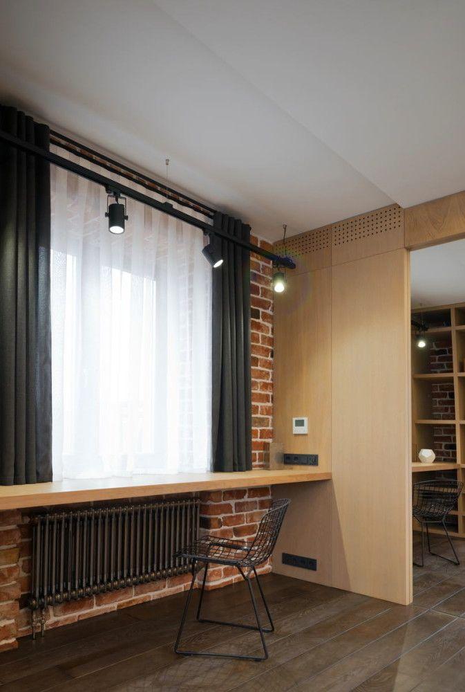 Мебель и предметы интерьера в цветах: темно-коричневый, коричневый, бежевый. Мебель и предметы интерьера в стилях: минимализм, лофт.