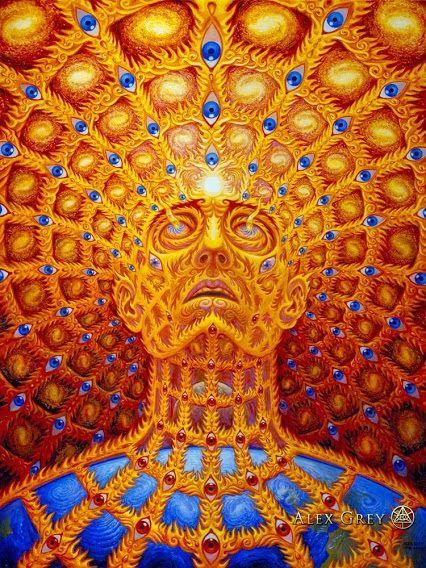 52c6d1f453bc45c968eb81a4492be7dd  alex grey crazy art - A arte transcendental de Alex Grey