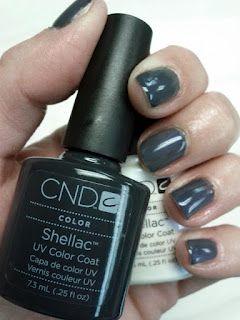CND Shellac Asphalt & Negligee