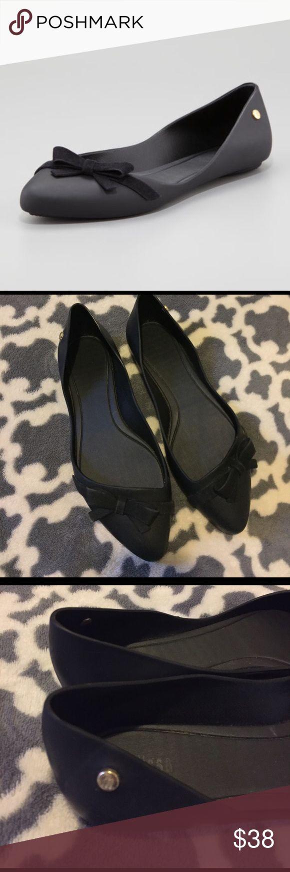 Melissa Trippy Bow Ballet Flats Euc worn twice Melissa Shoes Flats & Loafers