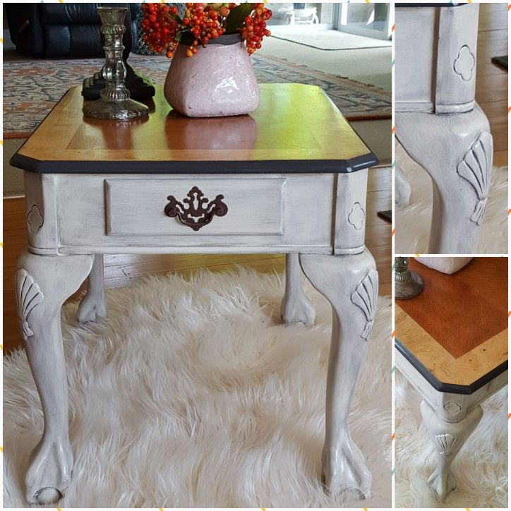 Glazed side table . Have used Artisan Enhancements clear sealer on this and love the finish.
