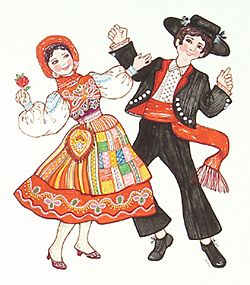 Original Artwork: Marsha Howe: Portugal Costumes and Native Dress