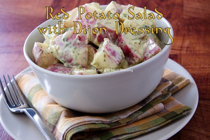 Red-skinned potatoes are served in a Dijon, white wine vinegar, extra-virgin olive oil and parsley dressing, and the flavor of this tasty side dish is simply phenomenal.