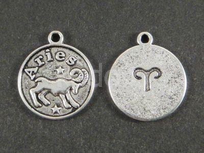 Zawieszka zodiak baran - 1 sztuka  Półfabrykaty metalowe  »  Zawieszki