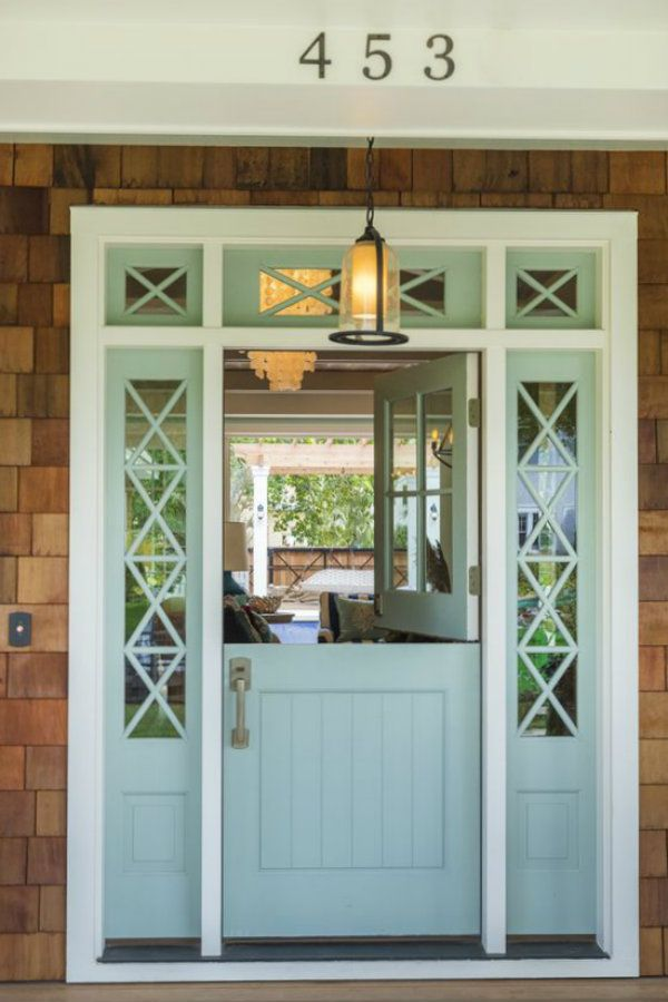 Would you paint your front door a gorgeous blue color? Most shades of blue have a sense of calm about them, but what can it really say about you?  #dutchdoor