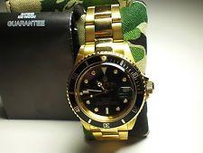 Authentic A Bathing Ape Bape watch bapex from Japan black gold RARE