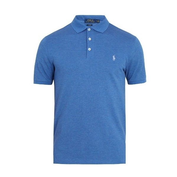 Polo Ralph Lauren Classic polo shirt (275 BRL) ❤ liked on Polyvore featuring men's fashion, men's clothing, men's shirts, men's polos, blue, mens blue shirt, mens polo shirts, polo ralph lauren mens shirts and mens navy blue polo shirts
