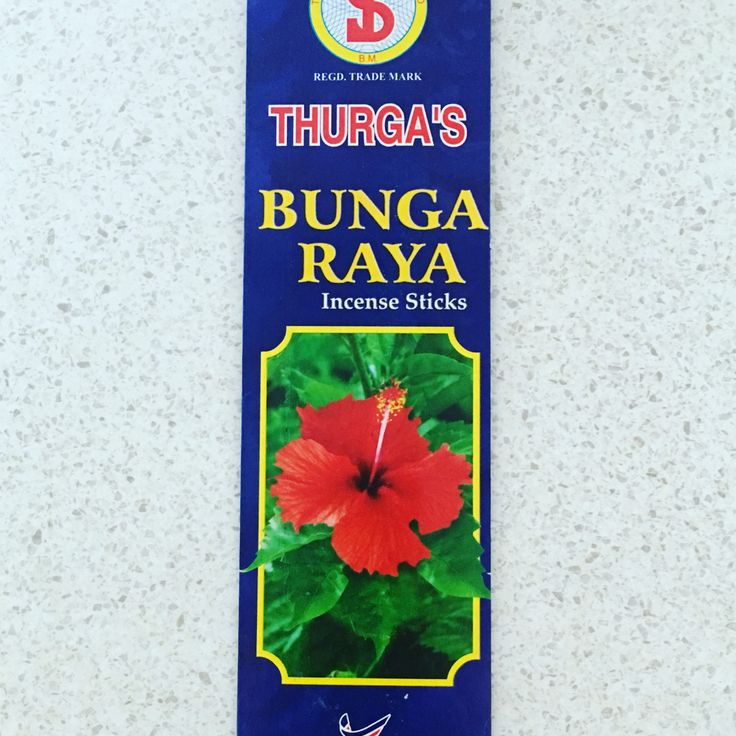 THURGA'S Bunga Raya incense $3 packet/12 sticks available @ QIncense.com.au