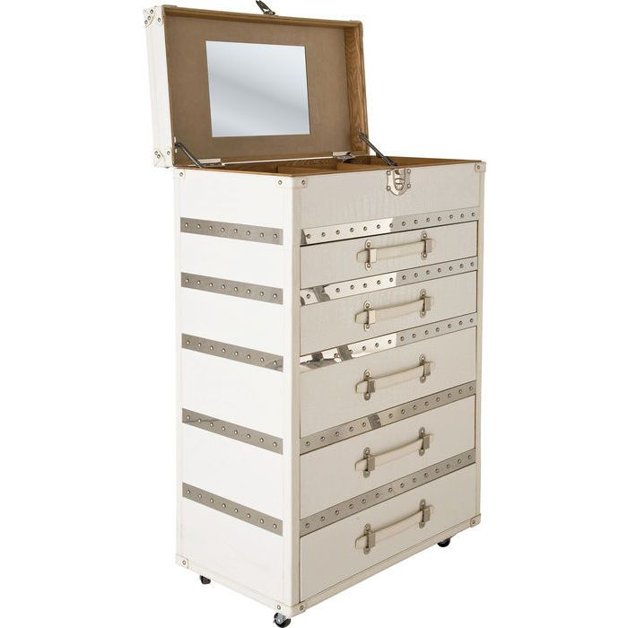 dresser diva make up croco 5 drawers kare design