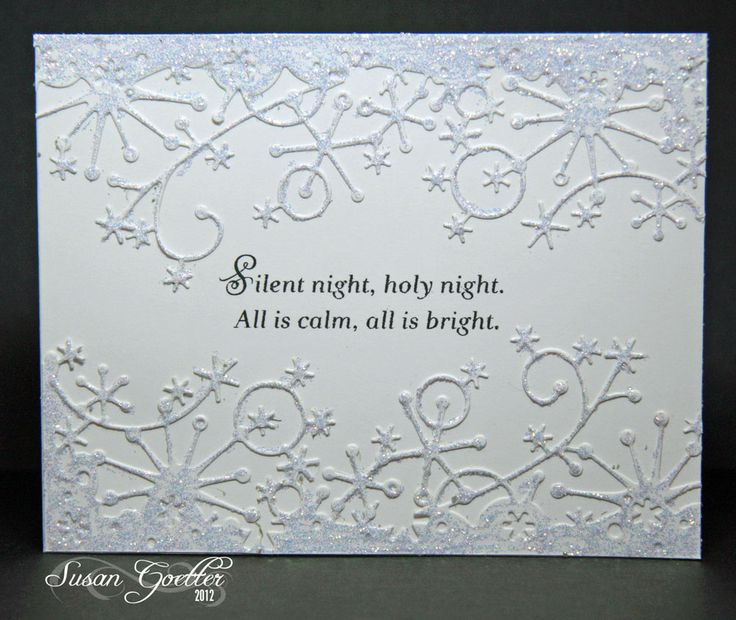 I love the white on white and how the snowflake border glitters!!!