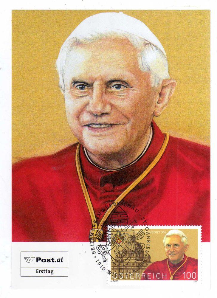 Geschichte Religion Papst Benedikt XVI. ÖSTERREICH Maxikarte