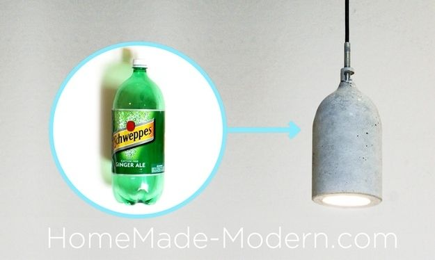 Pendant Lampshade   22 Seriously Cool Cement Projects You Can Make At Home
