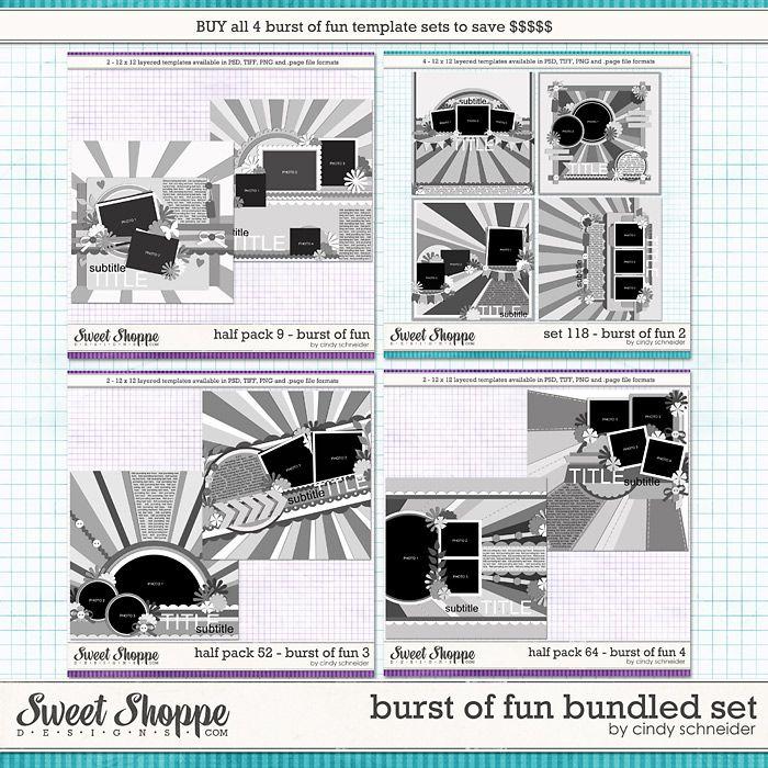 Cindy's Templates: Burst of Fun Bundled Set by Cindy Schneider