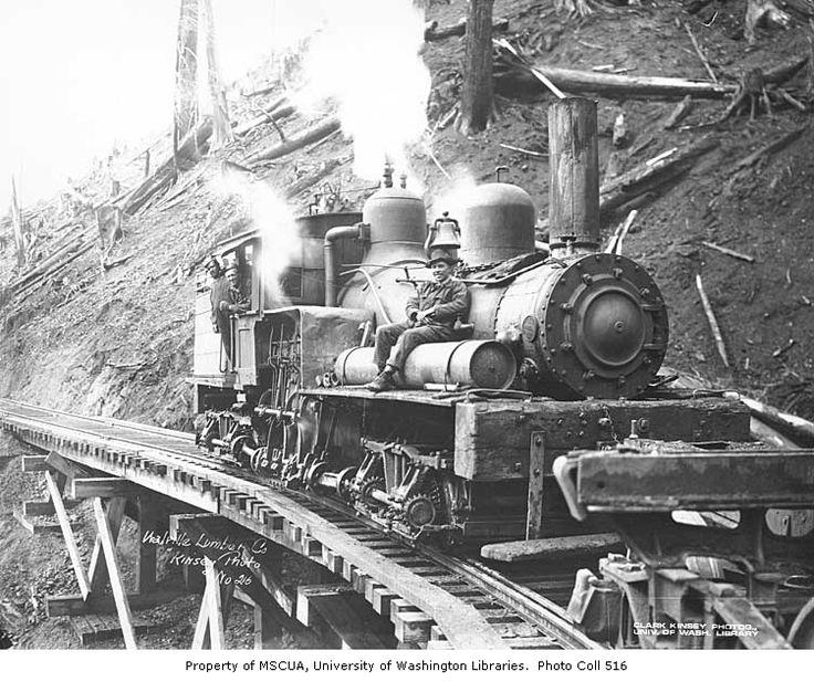 Walville Lumber Company locomotive or train 1907