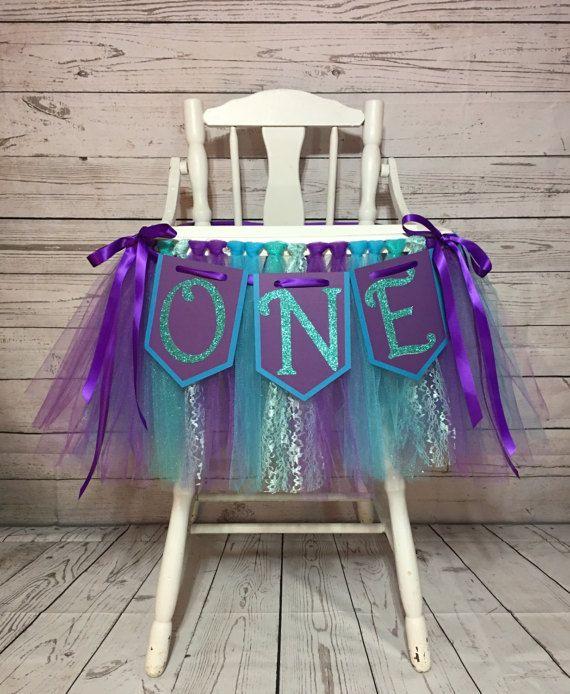 Little Mermaid High Chair Tutu High Chair by AvaryMaeInspirations