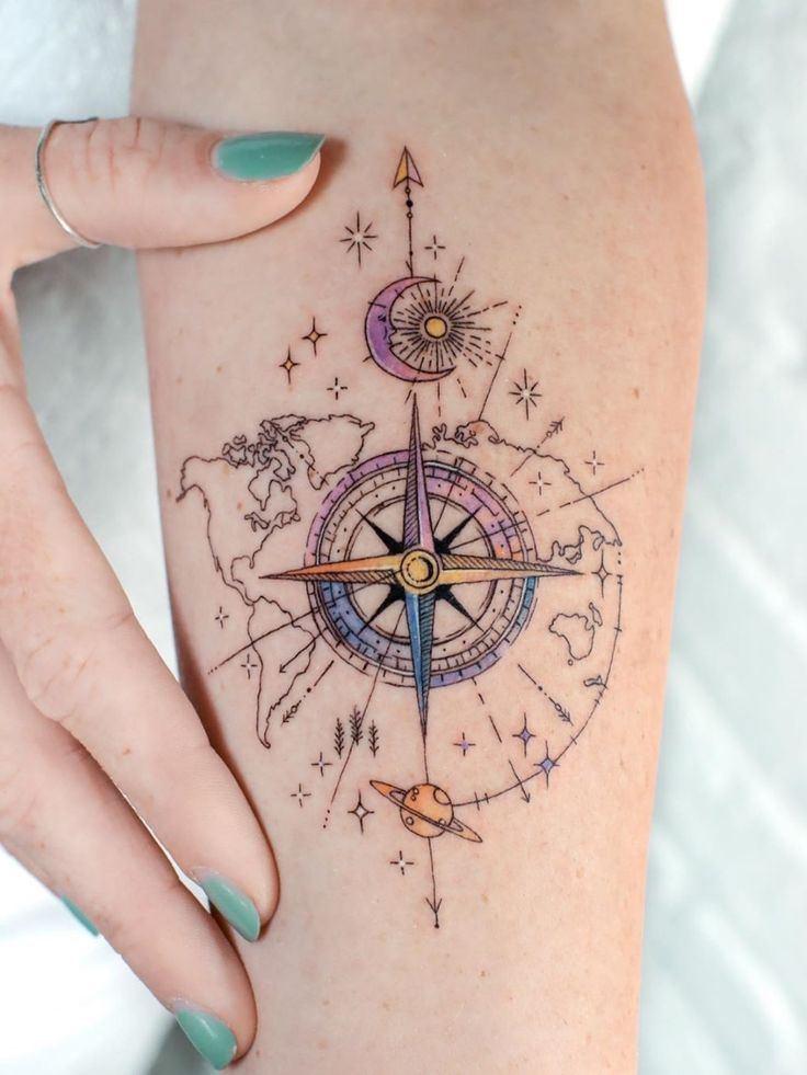 Ramón on Twitter | Compass tattoo, Traditional compass tattoo, Small tattoos