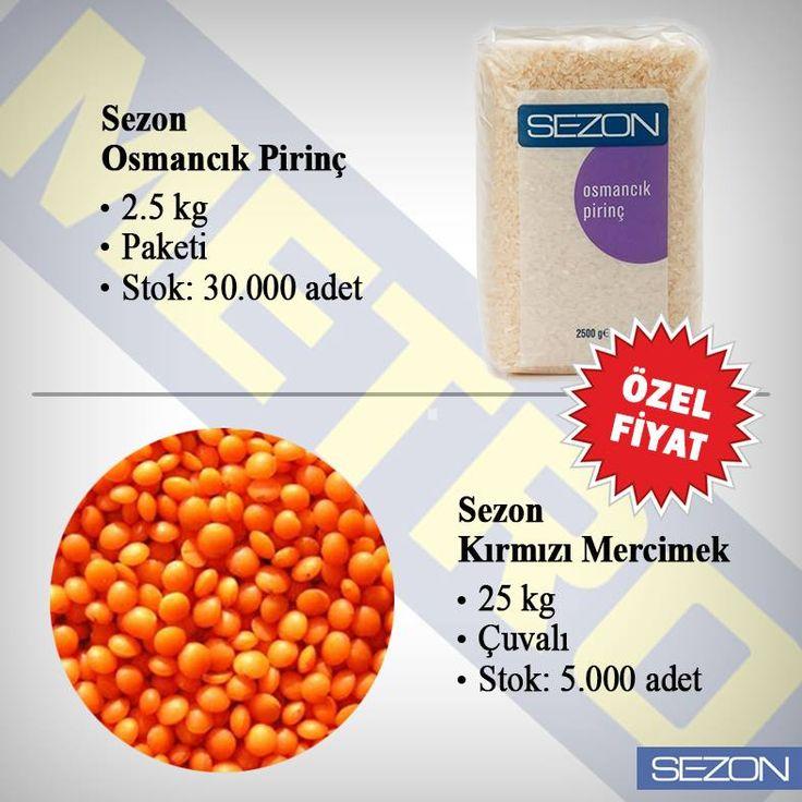 Karşınızda İndirim Sezon'u!  Metro marketlerde 23 Temmuz - 20 Ağustos 2015 tarihleri arasında Sezon Osmancık pirinç 2,5 kg ve Sezon Kırmızı mercimek 25 kg ürünlerinde indirimli özel fiyat uygulaması sizi bekliyor!