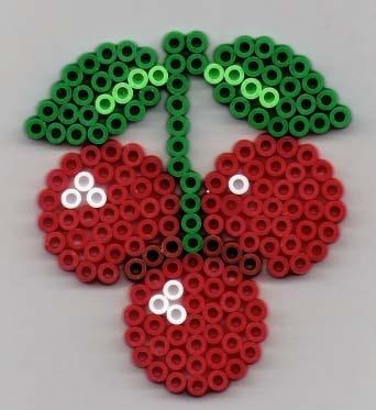 Kirsche Bügelperlen / Cherry perler beads