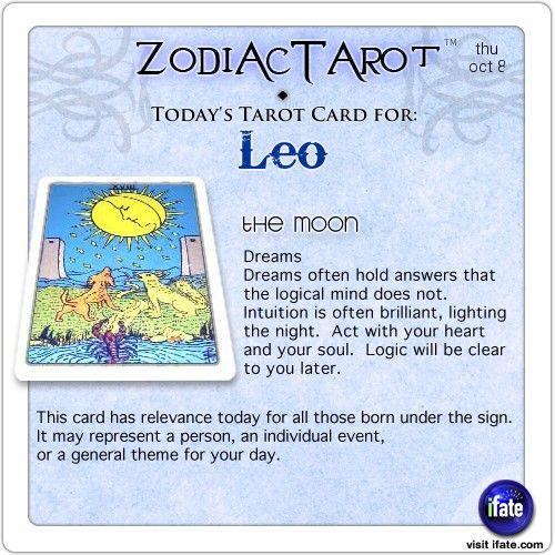 Zodiac Tarot for October 8: Leo <br> http://ifate.com