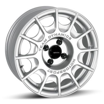 "Team Dynamics PRO RALLY  Avalable in 6x15"" 7x15"" 4 and 5 stud. FOR COMPETITION USE - Classic design for gravel stage rally wheel, features cooling windows whilst solid centre helps keep stones out of brake callipers."