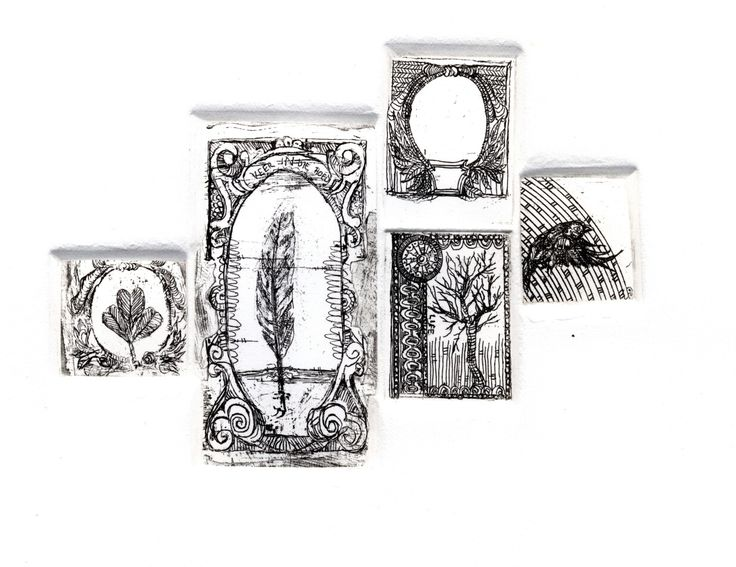 Elrie Joubert, miniature etches, Contemporary Curiosities: From Crane Flies to Cameos