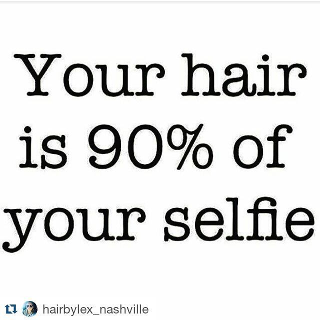 #Repost @hairbylex_nashville ・・・ Take care of your hair! #selfie #hair…