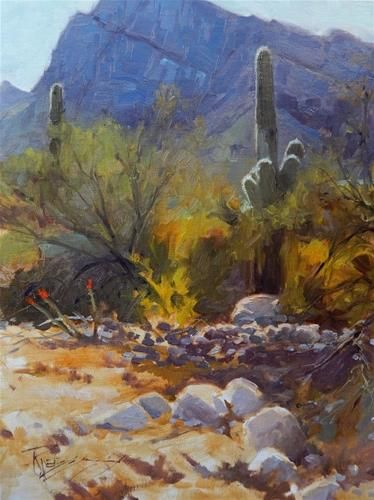 Daily Paintworks Quot Tucson Territory Arizona Landscape