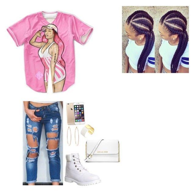 """Untitled #17"" by kyila1326 ❤ liked on Polyvore featuring Nicki Minaj, Timberland, Rosa de la Cruz, Kate Spade and MICHAEL Michael Kors"