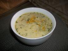 Zupa ogórkowa na żeberku wieprzowym