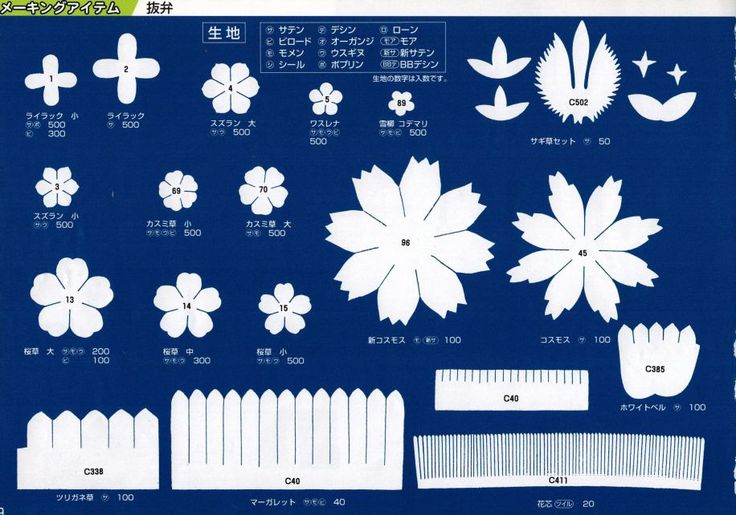 Мобильный LiveInternet Шаблоны для цветов из фоамирана...   ксения_изнова - Дневник ксения_изнова  